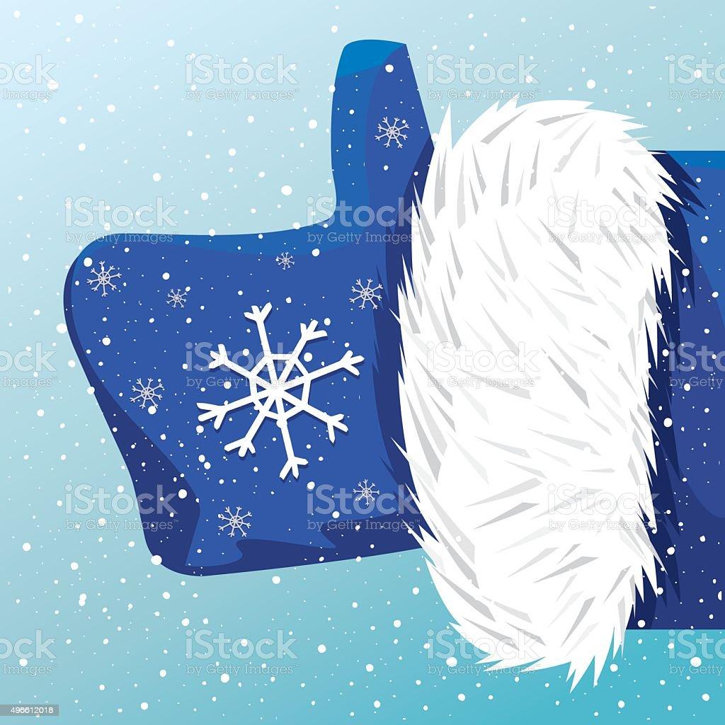 Father Christmas like it vector art illustration