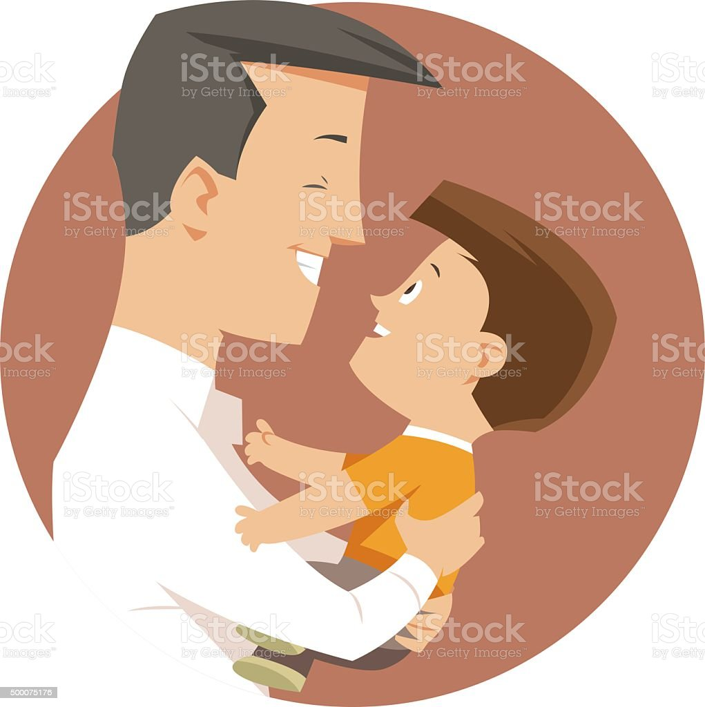 Father Day vector art illustration