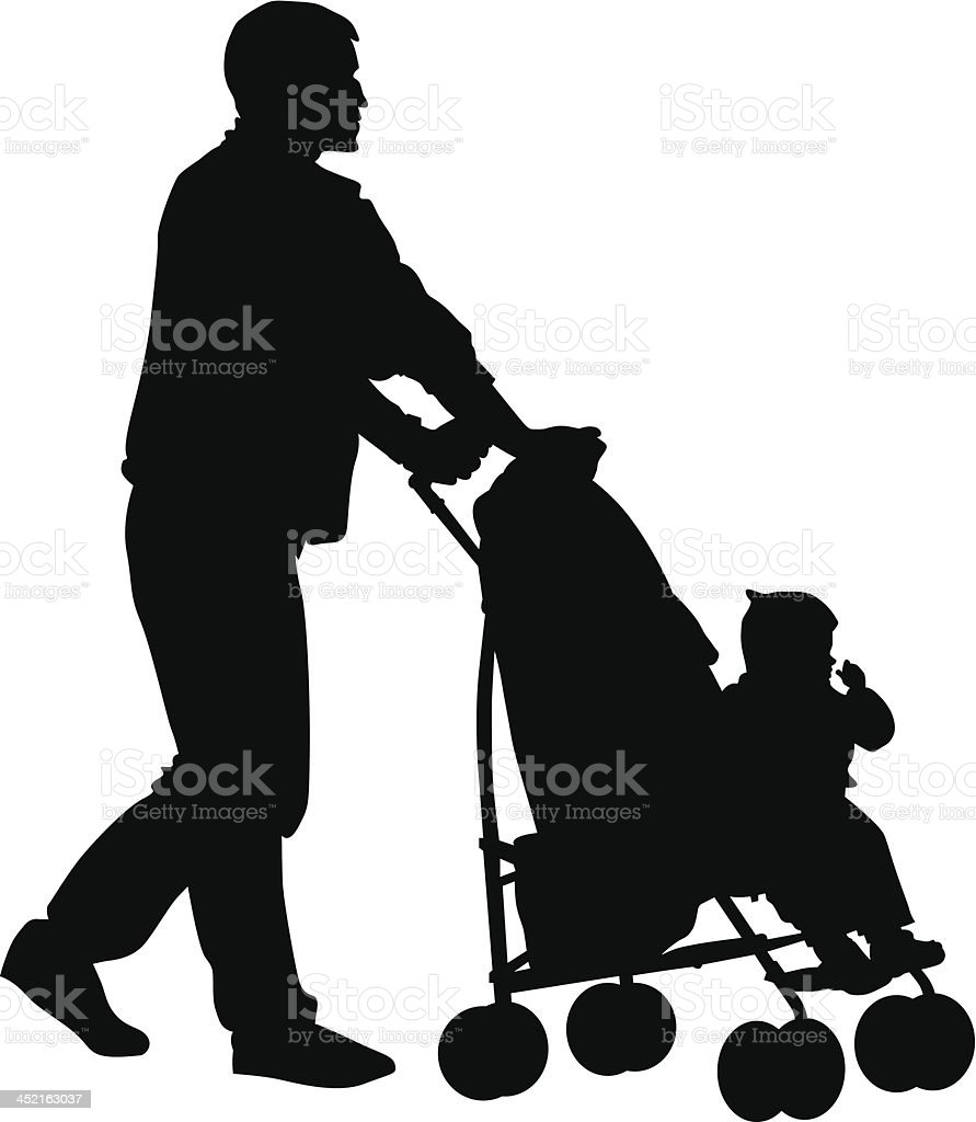 Father with child01 royalty-free stock vector art