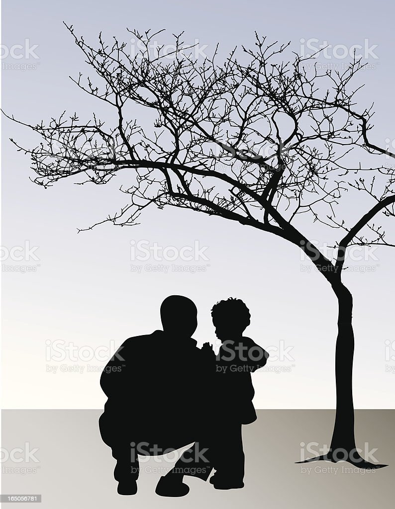 Fatherly Love Vector Silhouette royalty-free stock vector art