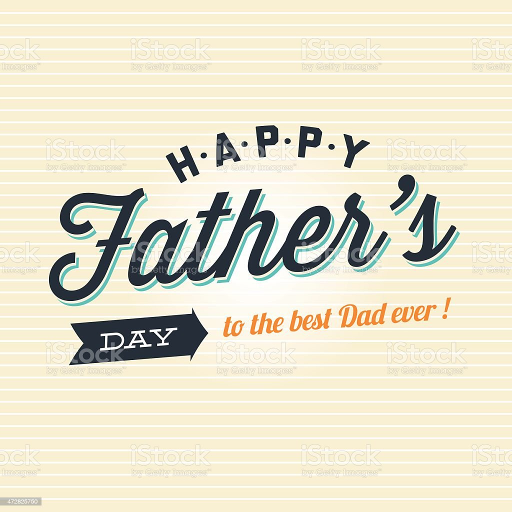 Fathers day card, logo, badge, signs and symbol vector art illustration