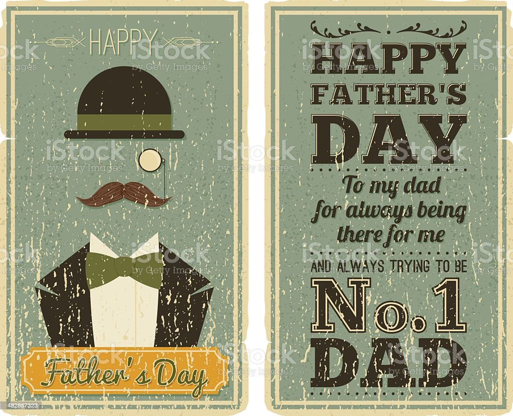 Father's Day Card vector art illustration
