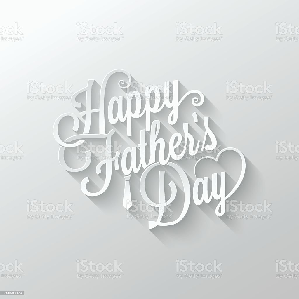 fathers day cut paper lettering background 10 eps
