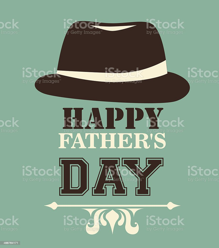 Fathers day design vector art illustration