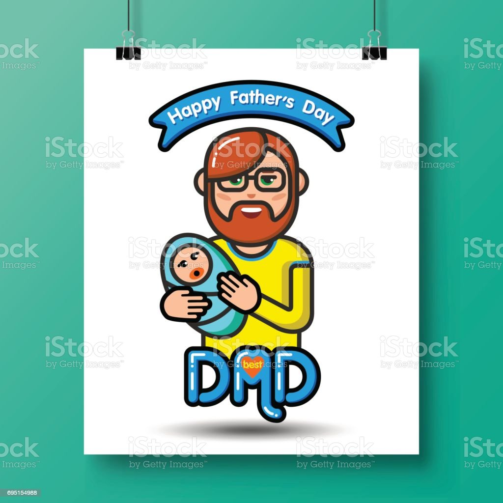 fathers day icons_23 vector art illustration