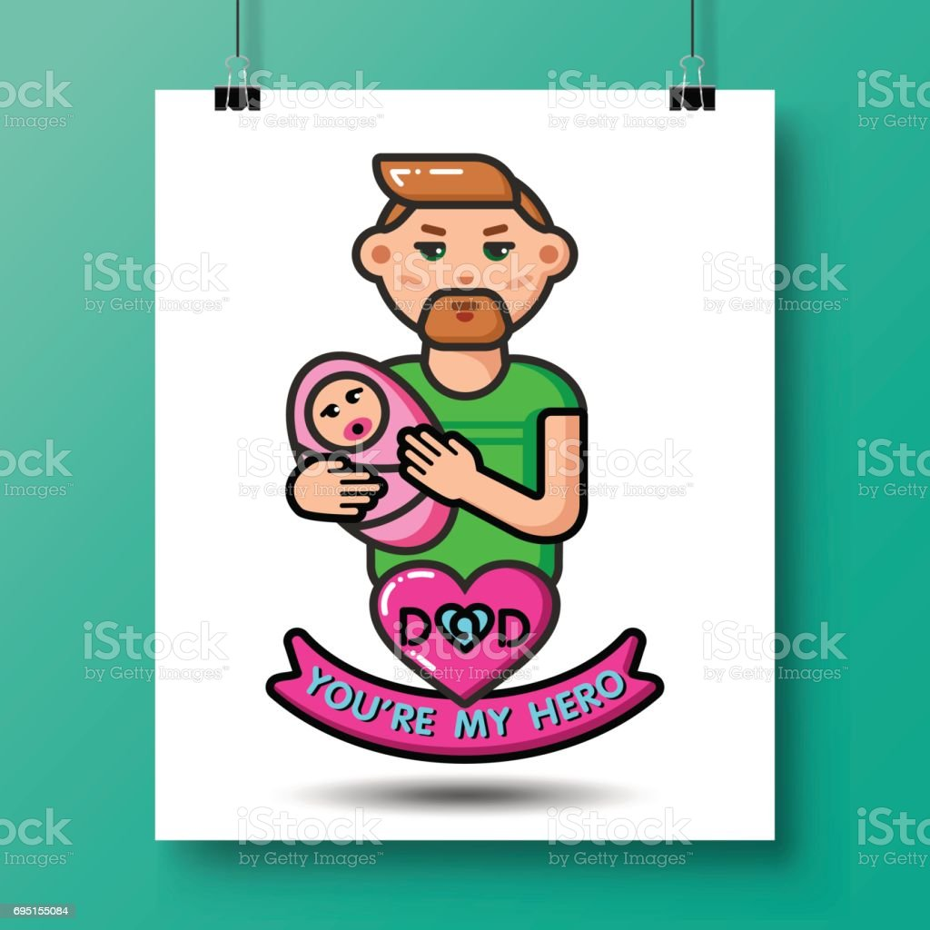 fathers day icons_25 vector art illustration