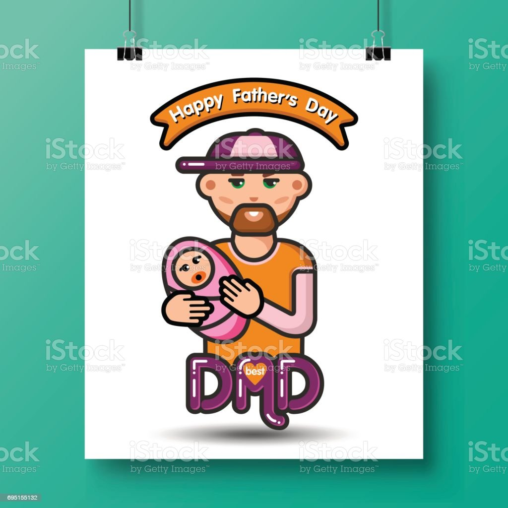 fathers day icons_28 vector art illustration