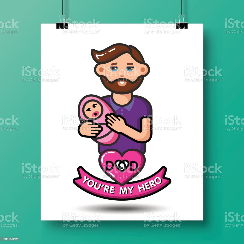 fathers day icons_30 vector art illustration