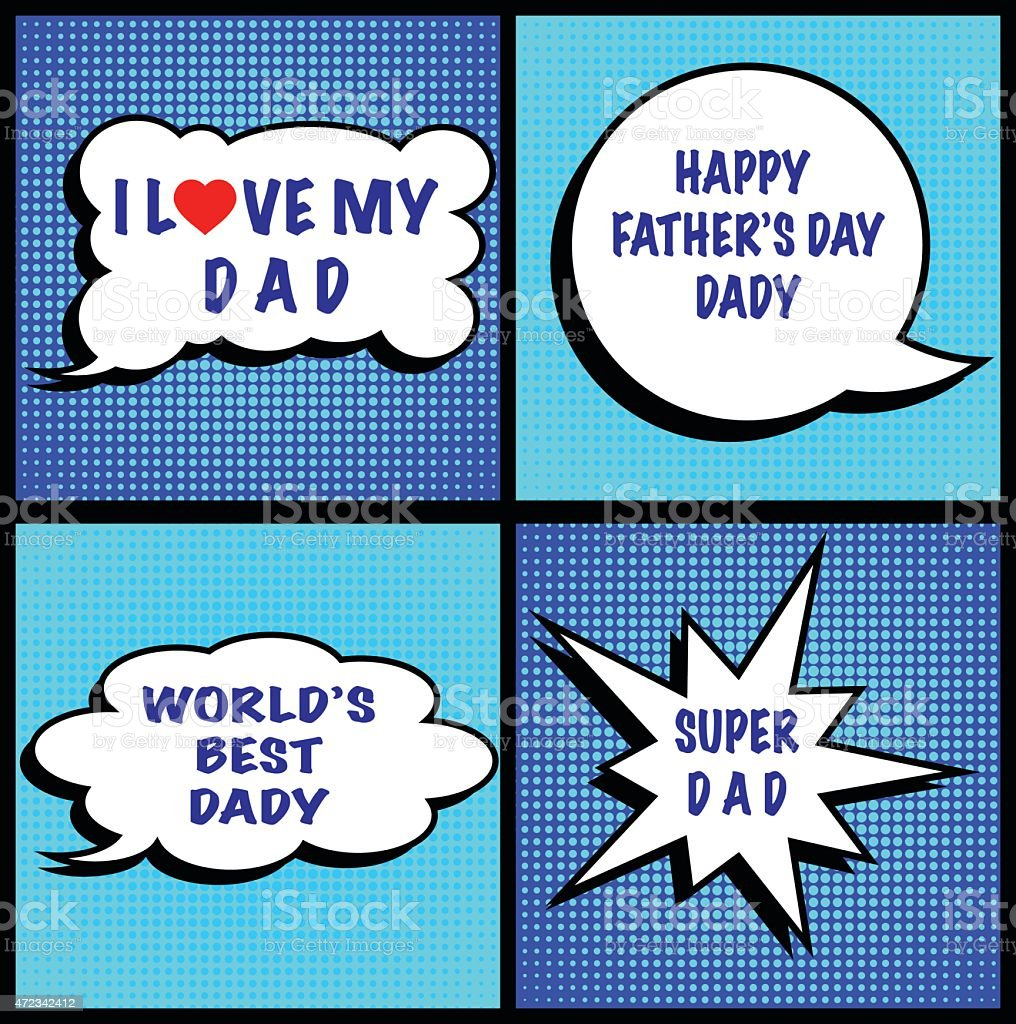 Fathers day vector art illustration