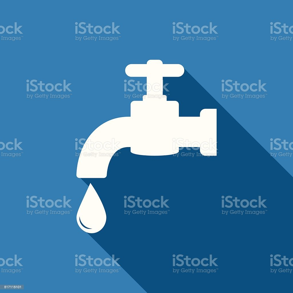 faucet icon vector art illustration