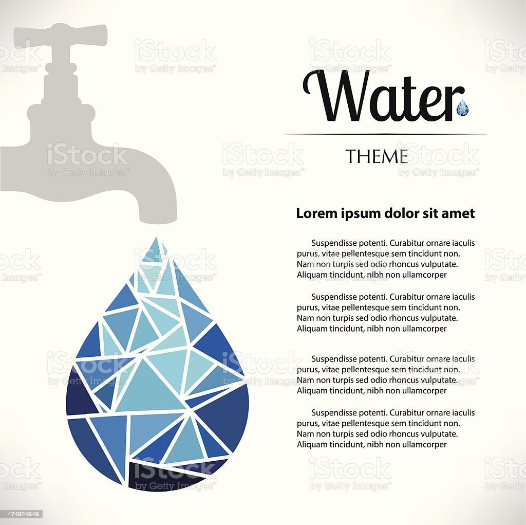 Faucet Water Care vector art illustration