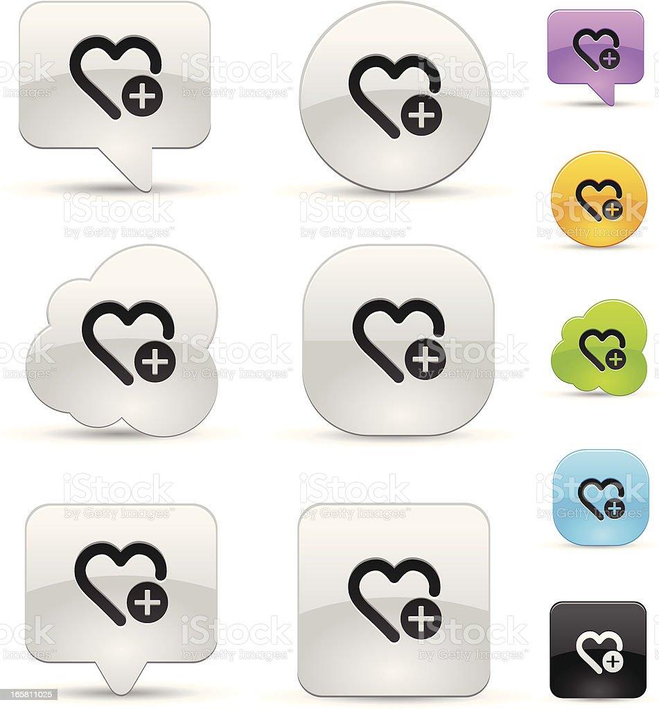 Favorite icon set. royalty-free stock vector art