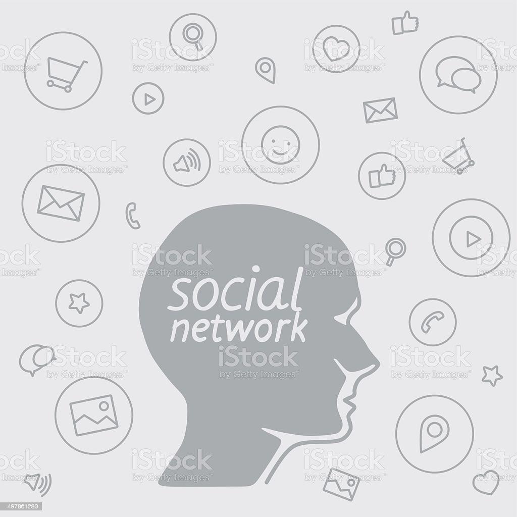 Le programme préféré de marketing des médias sociaux sous la forme d'icônes stock vecteur libres de droits libre de droits