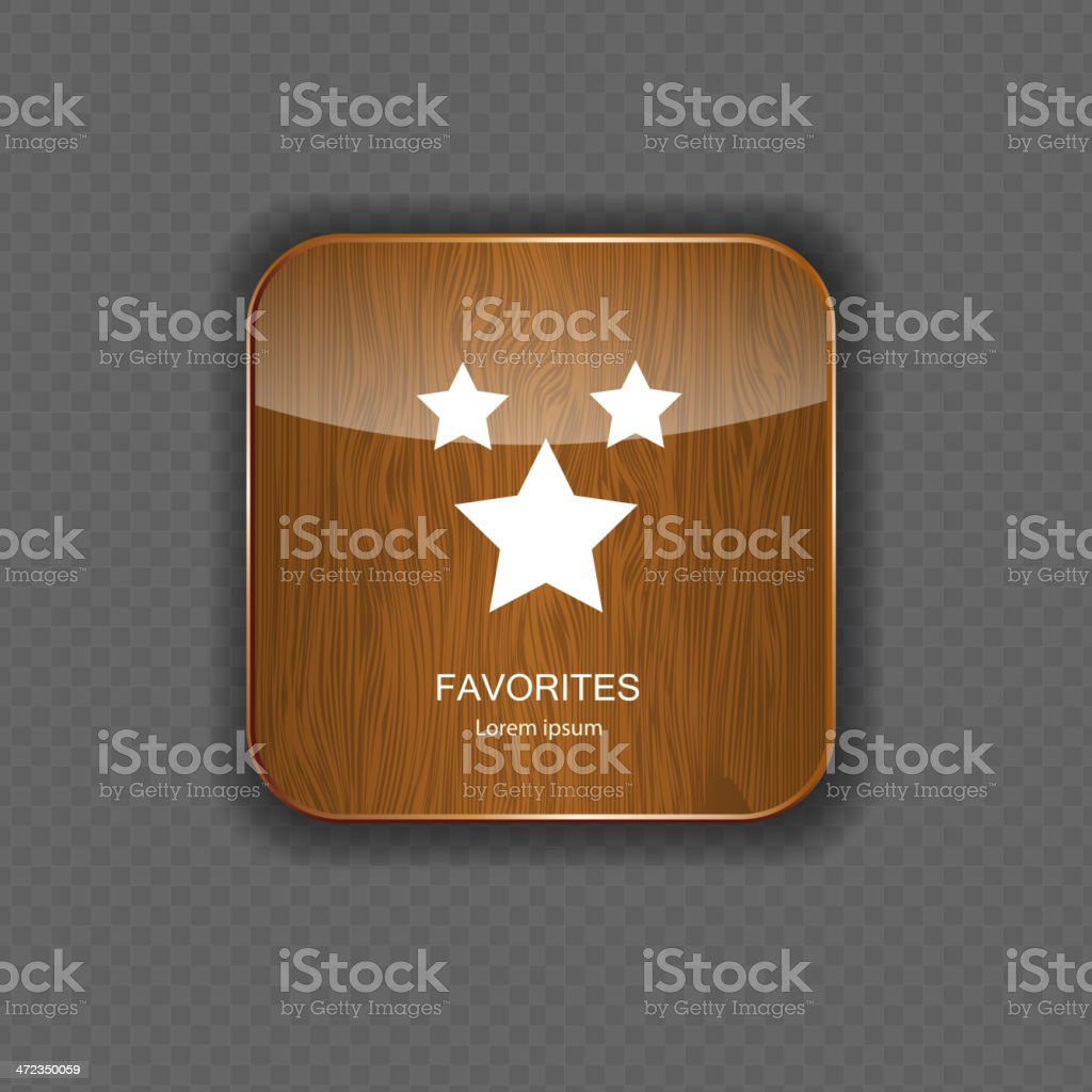 Favourites wood application icons vector illustration royalty-free stock vector art
