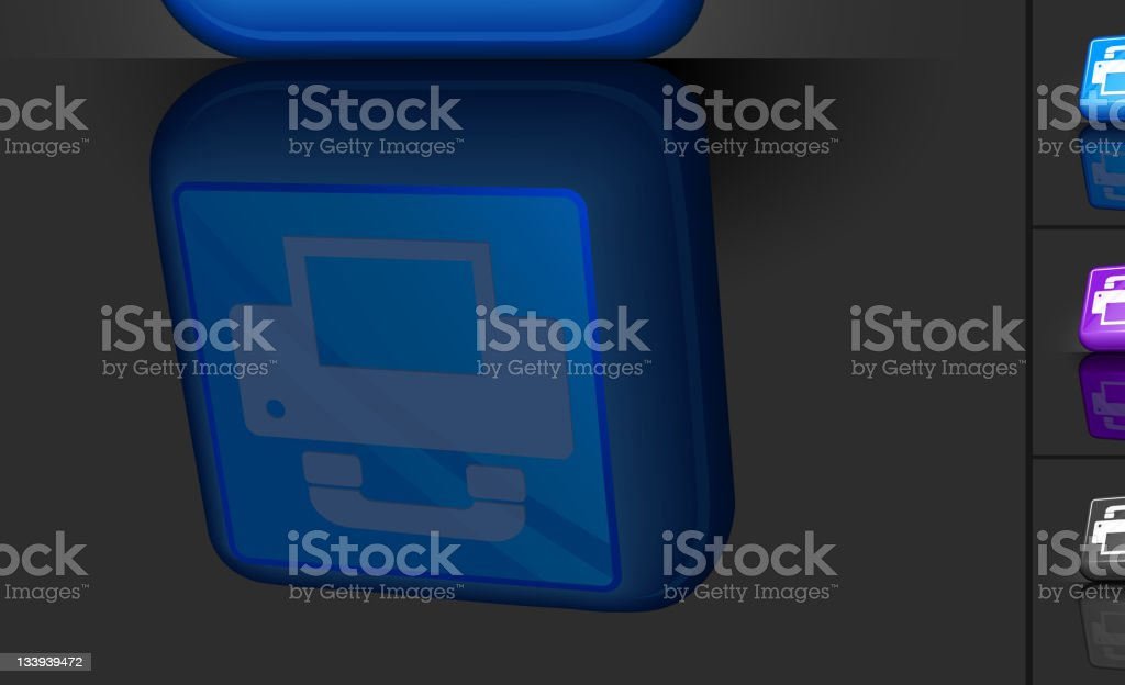 fax machine 3D button design royalty-free stock vector art