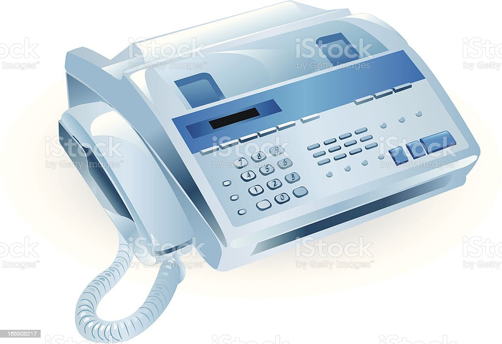 Fax machine royalty-free stock vector art