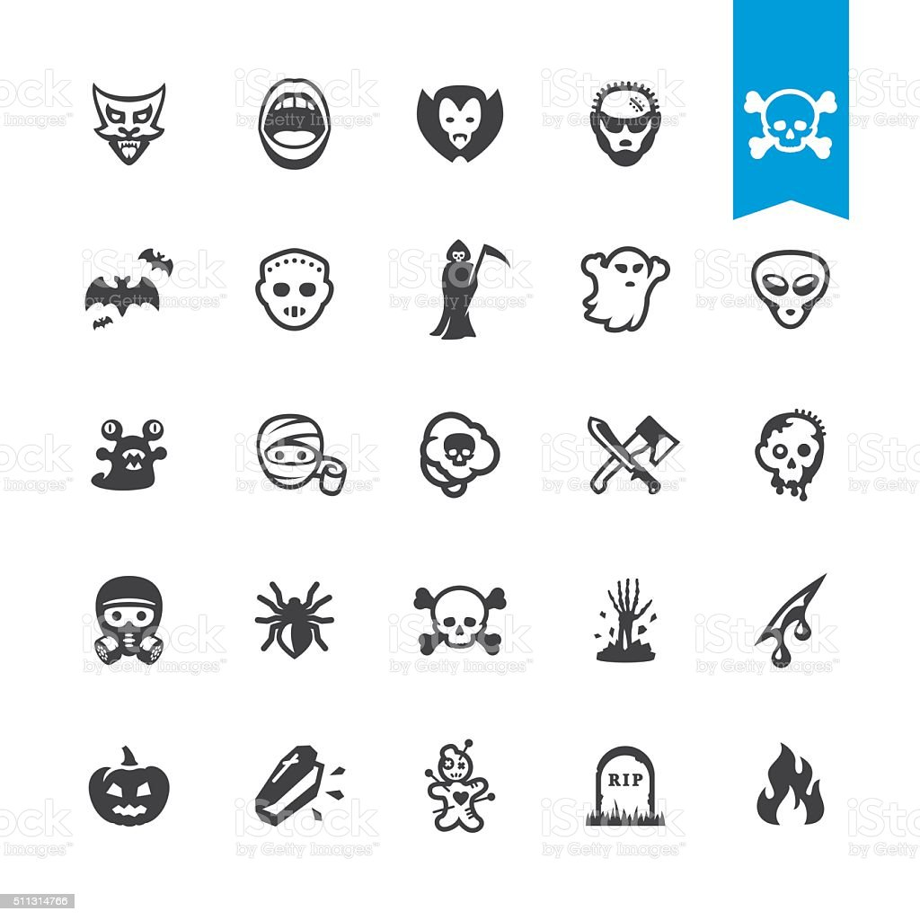 Fear and horror vector characters vector art illustration