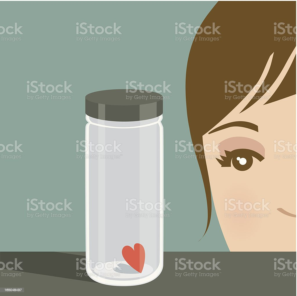 Fear of Love? royalty-free stock vector art