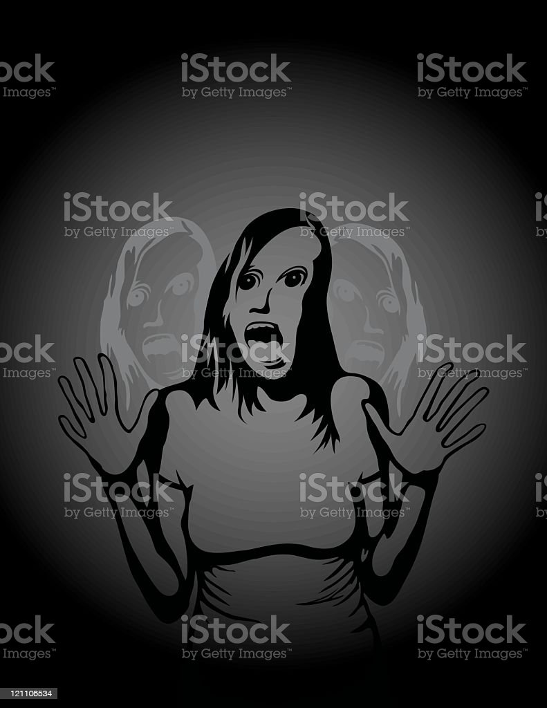 Fear Phobia royalty-free stock vector art