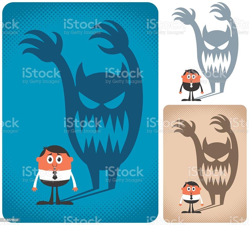 Fear vector art illustration