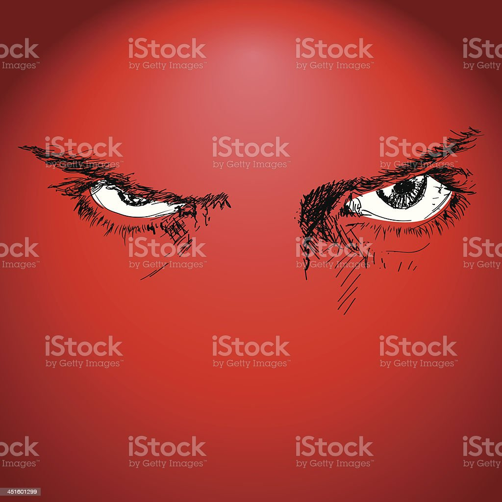 Fearless Eyes vector art illustration