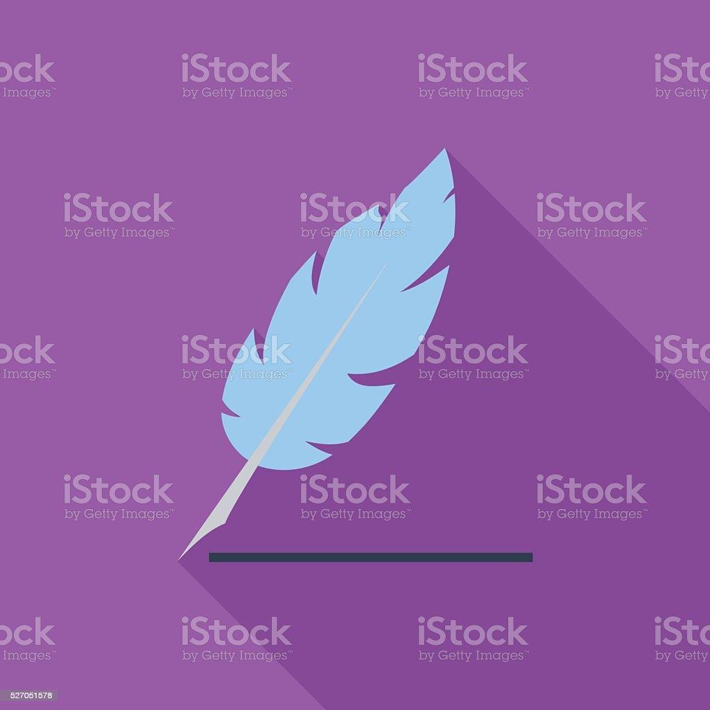 Feather flat icon vector art illustration
