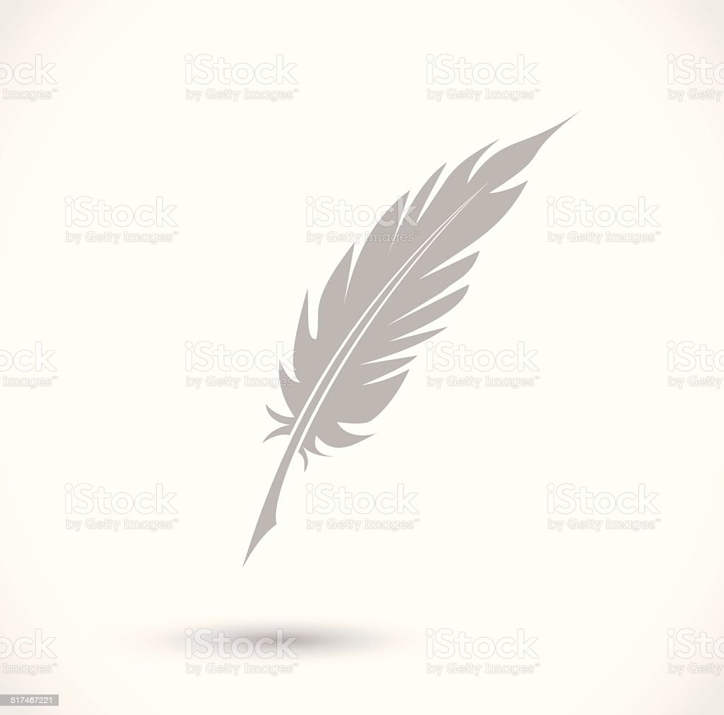 Feather Pen Icon Vector stock vector art 517467221