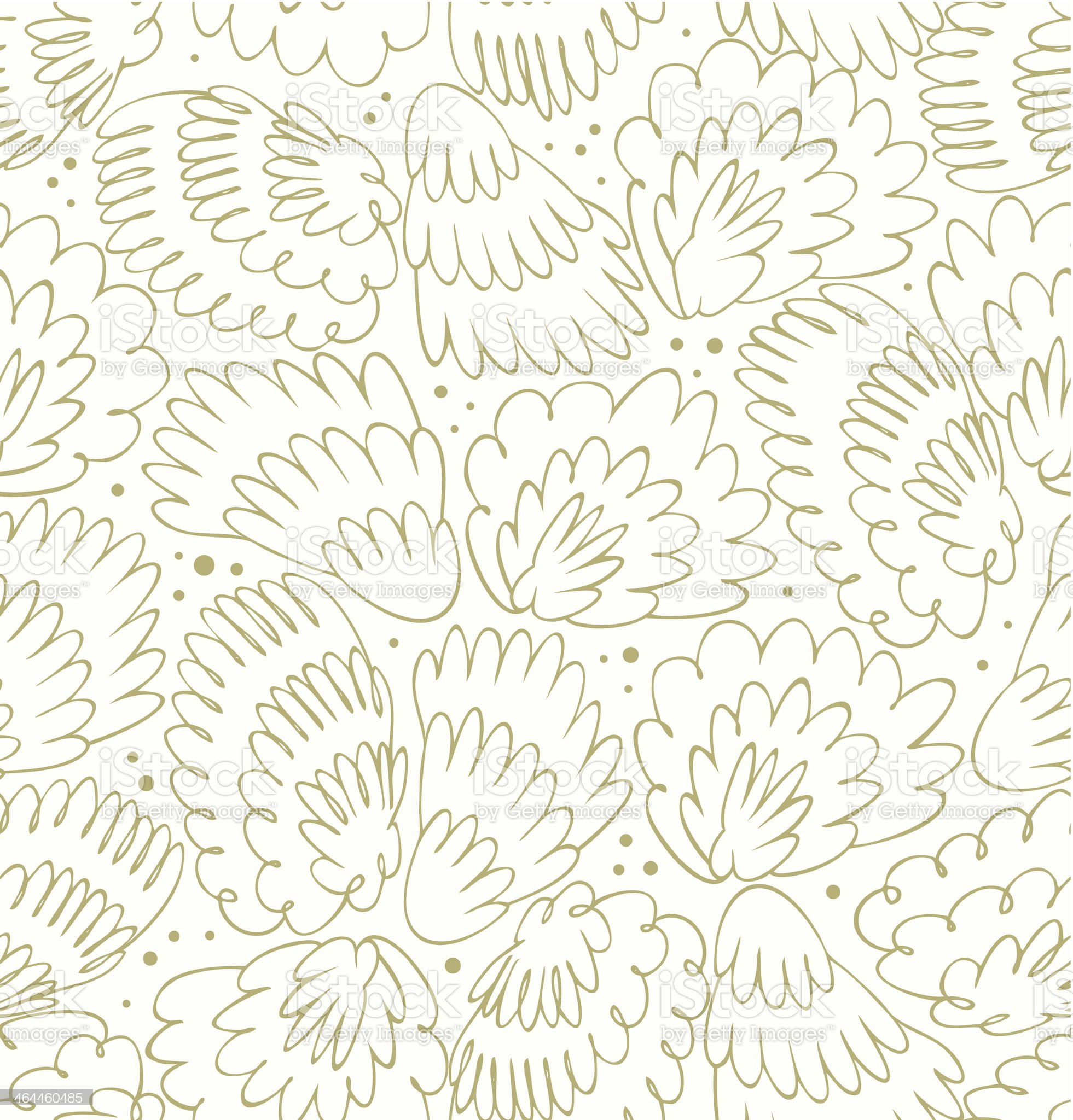 Feathers seamless modern pattern royalty-free stock vector art