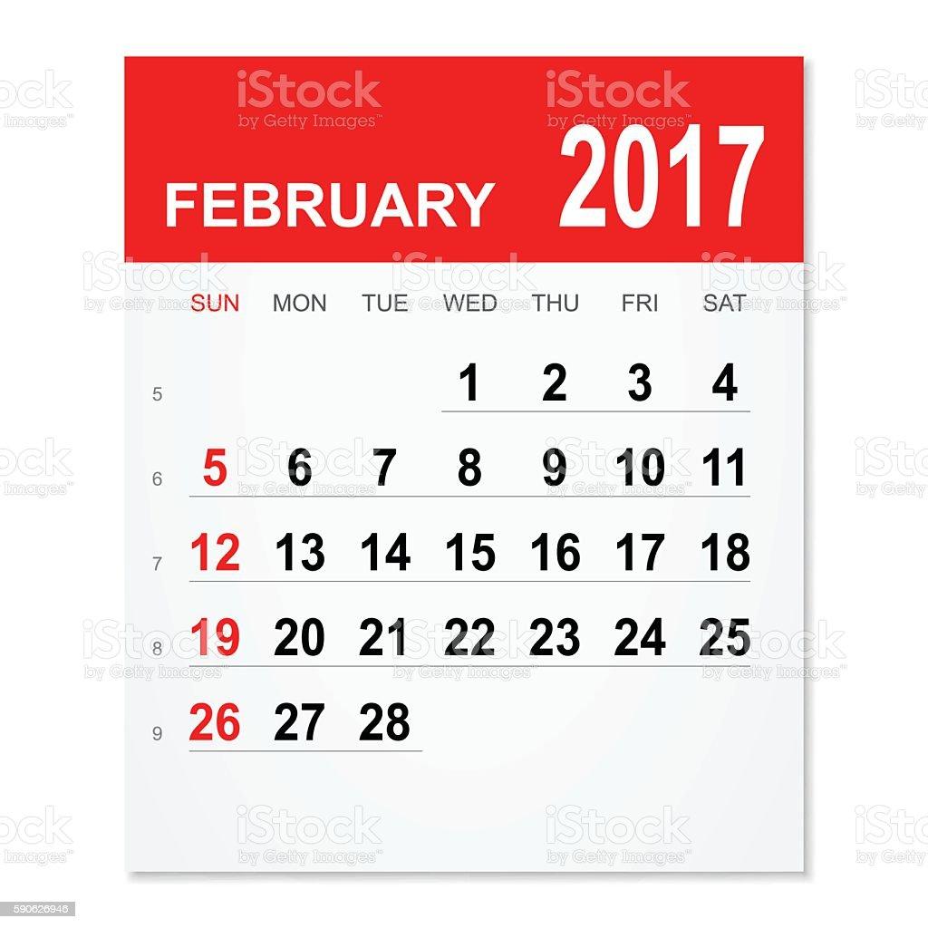 Februar 2017-Kalender