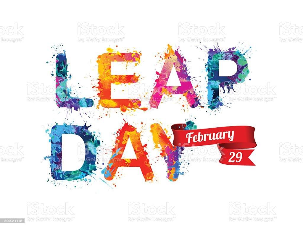 LEAP DAY. February 29 vector art illustration