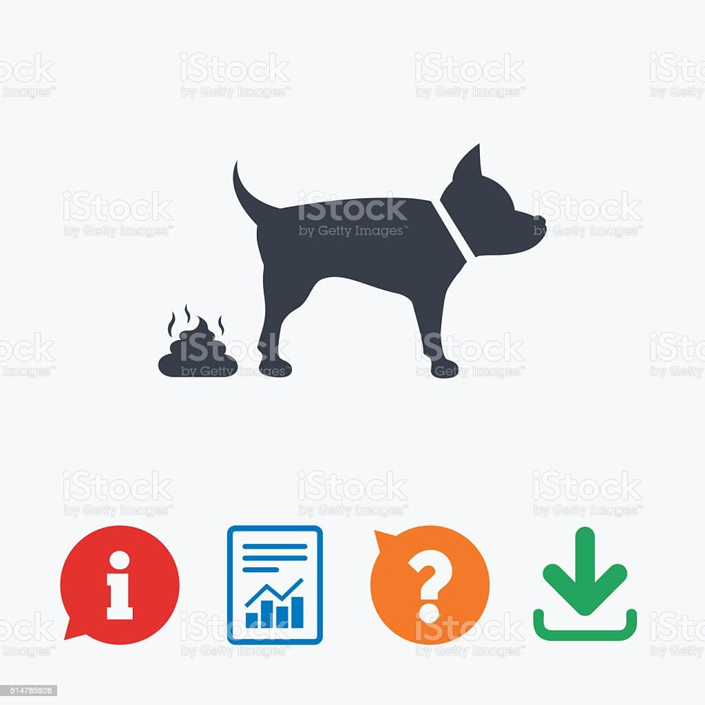 Feces sign icon. Clean up after pets symbol. vector art illustration