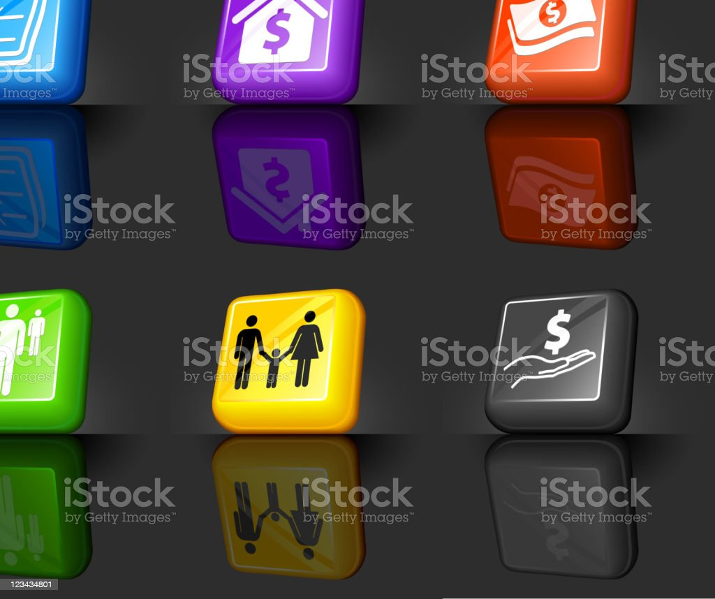 Federal aid internet royalty free vector icon set royalty-free stock vector art