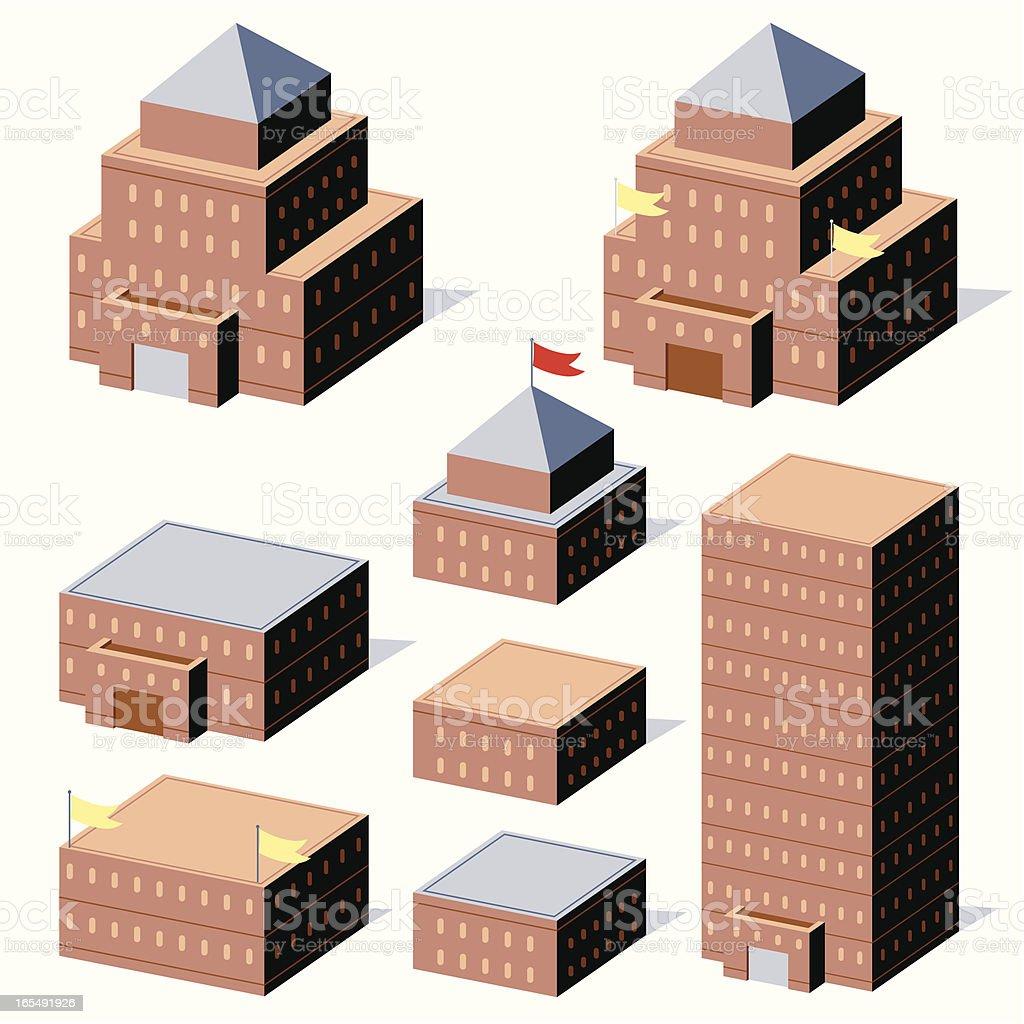 Federal Buildings royalty-free stock vector art