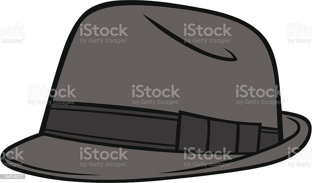 Fedora Hat vector art illustration