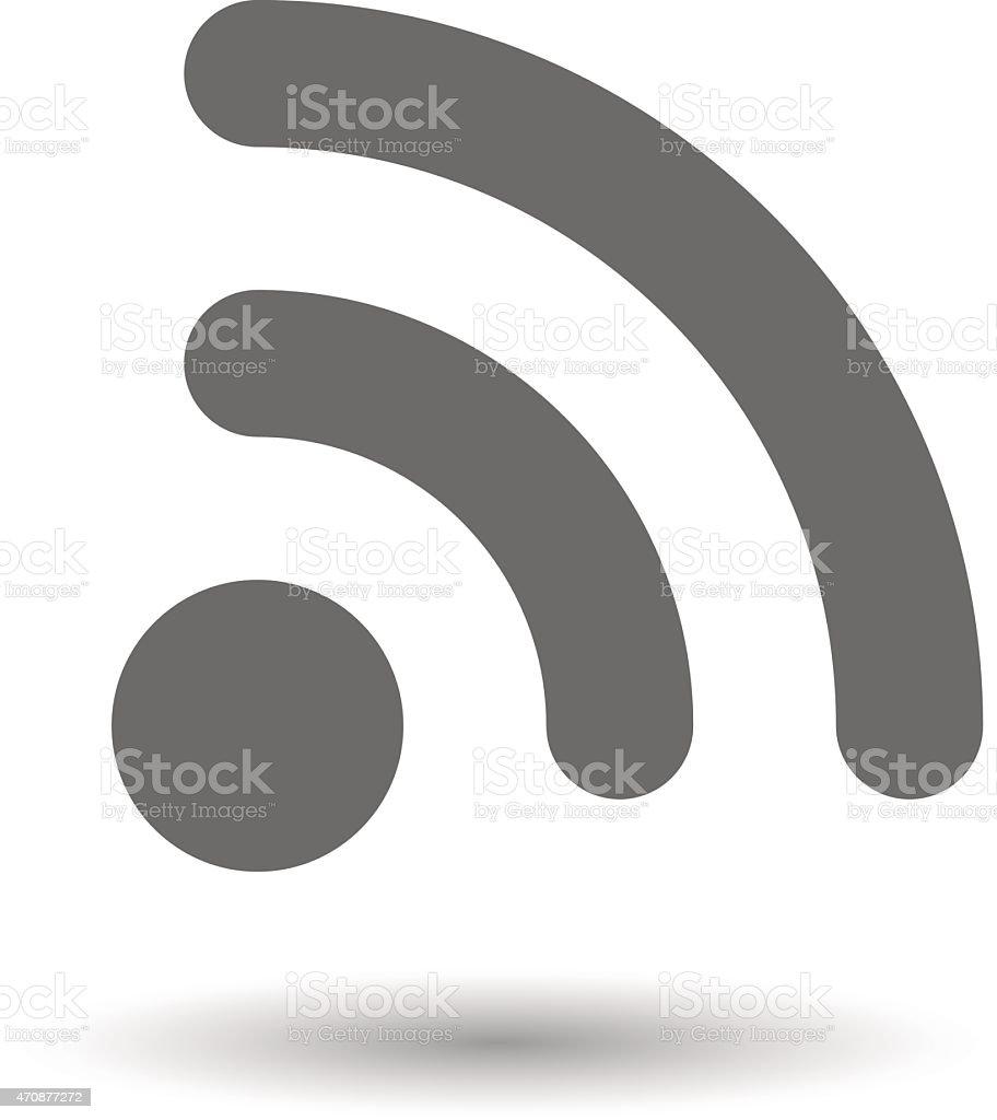 RSS feed icon vector art illustration