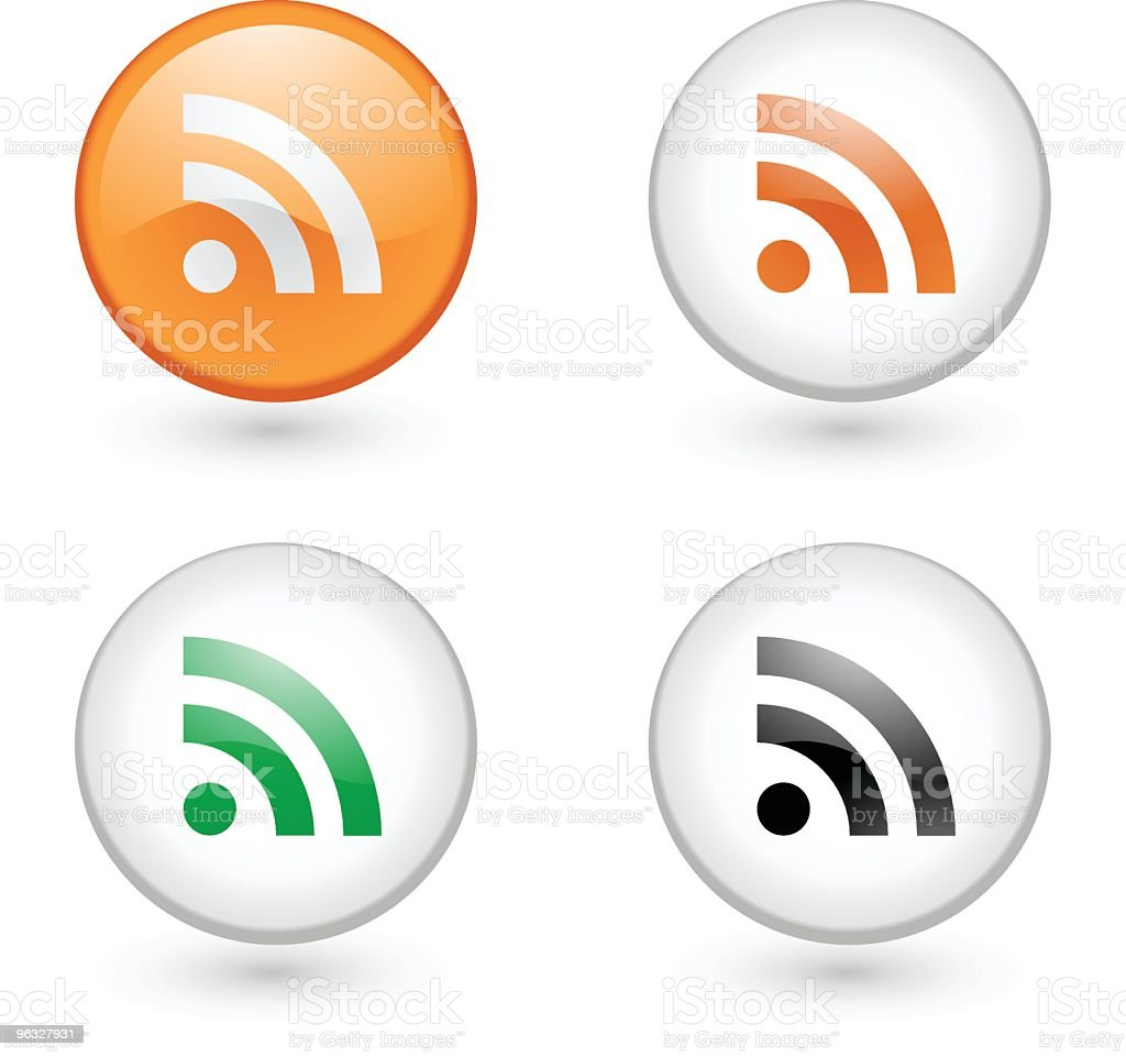 RSS feed icons royalty-free stock vector art