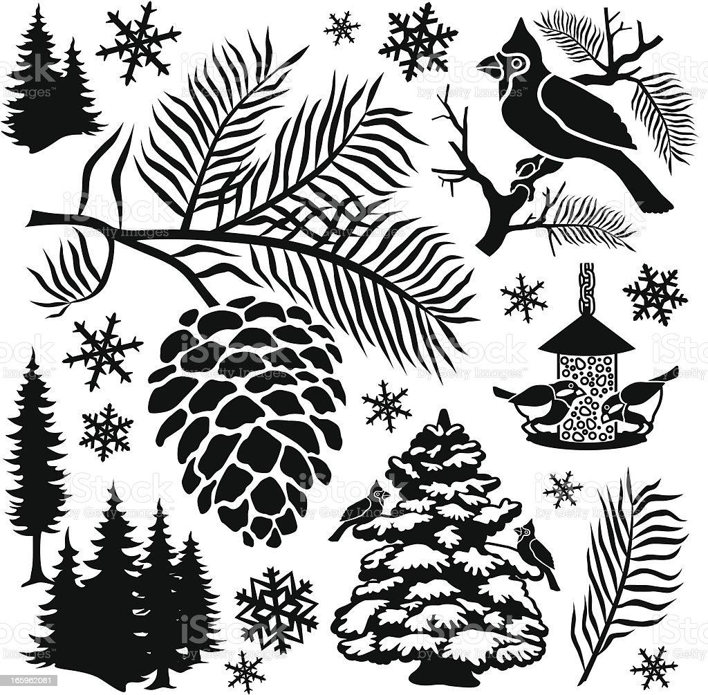 feed the birds vector art illustration