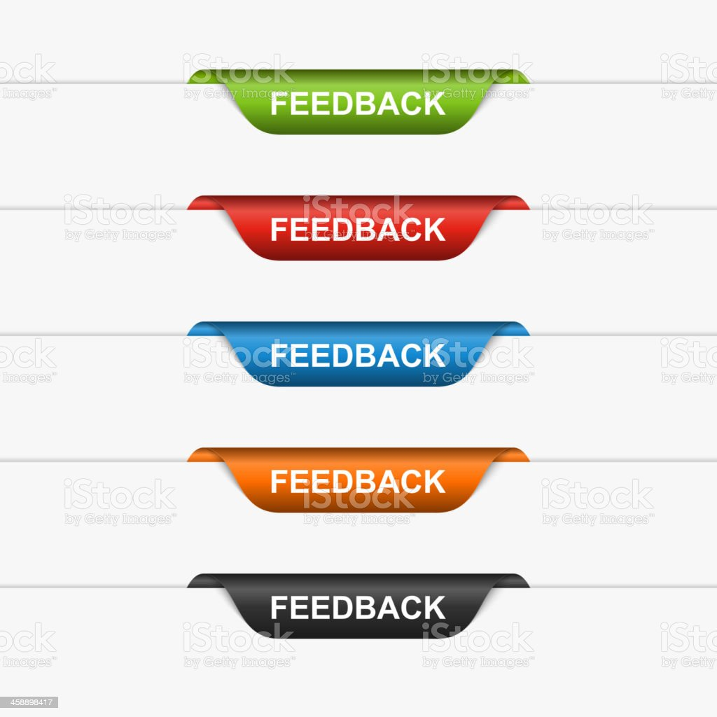 Feedback colorful labels, stickers. Vector illustration vector art illustration