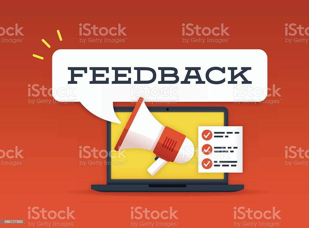Feedback vector art illustration
