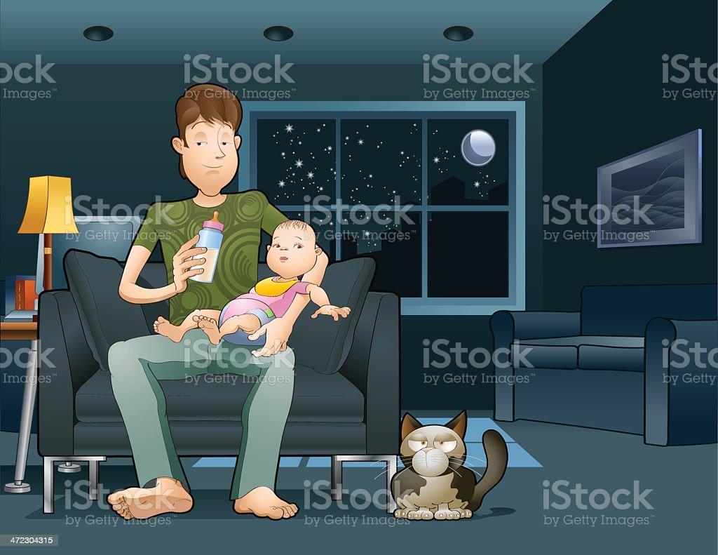 Feeding baby girl royalty-free stock vector art