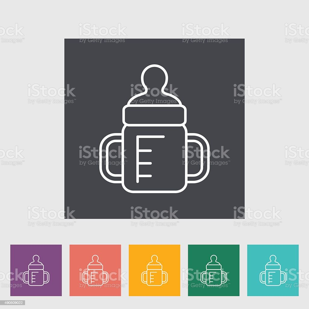 Feeding bottle vector art illustration