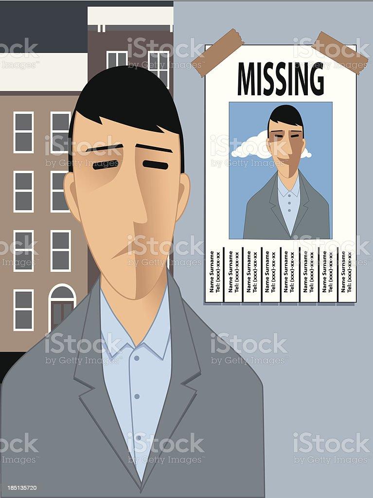 Feeling lost vector art illustration