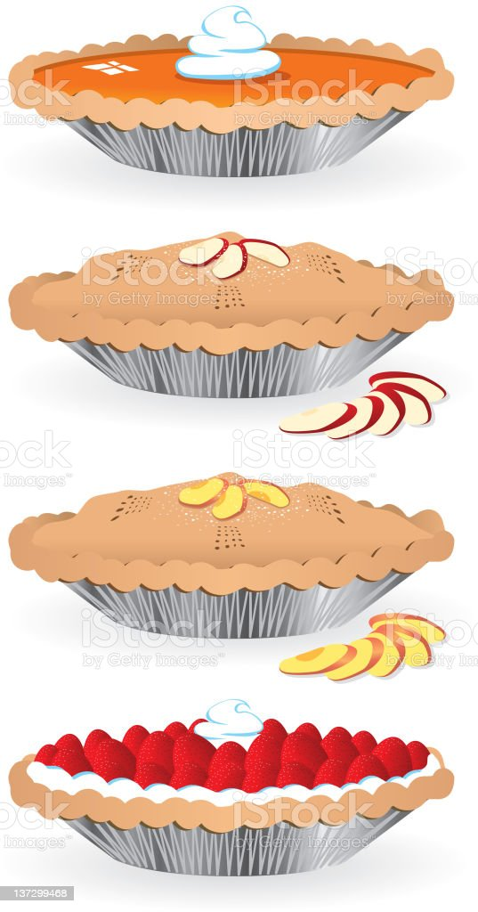 Pies vector art illustration