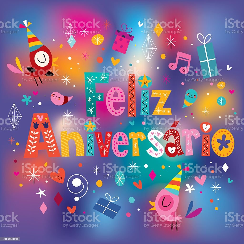 Gm Credit Card >> Feliz Aniversario Portuguese Happy Birthday Greeting Card stock vector art 502845056   iStock