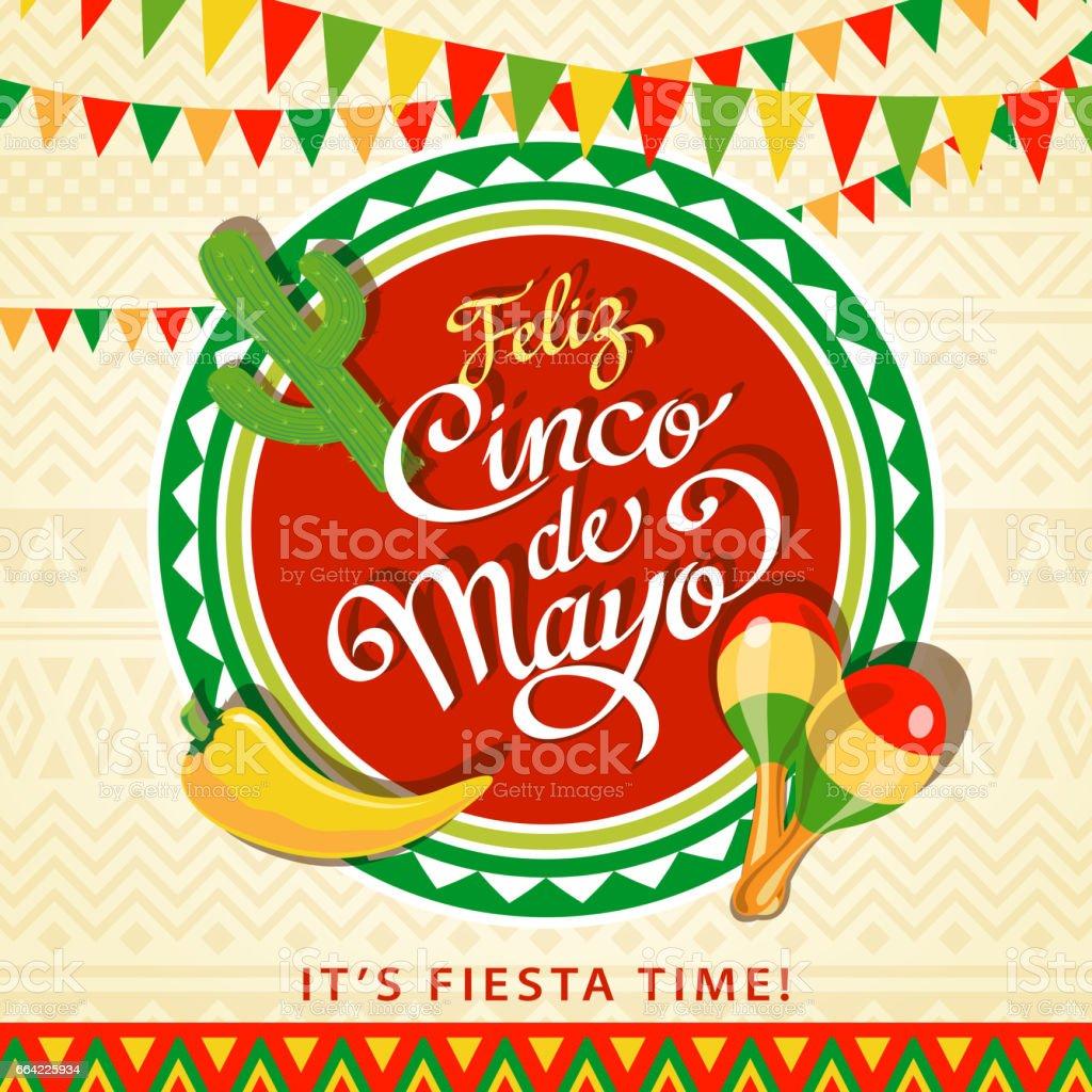 Feliz Cinco De Mayo vector art illustration