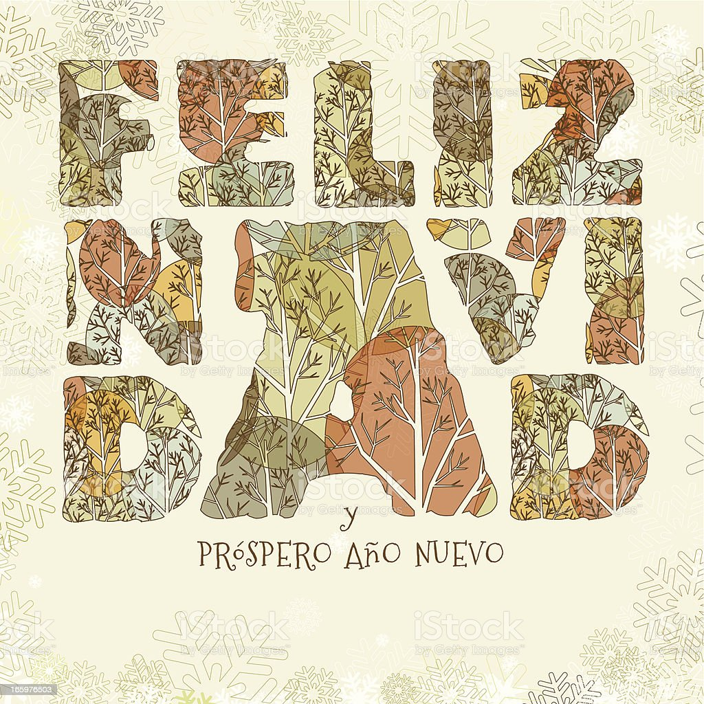 Feliz navidad greeting card royalty-free stock vector art