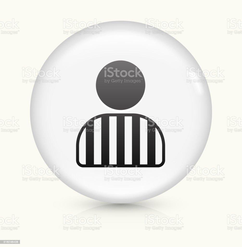Felon icon on white round vector button vector art illustration