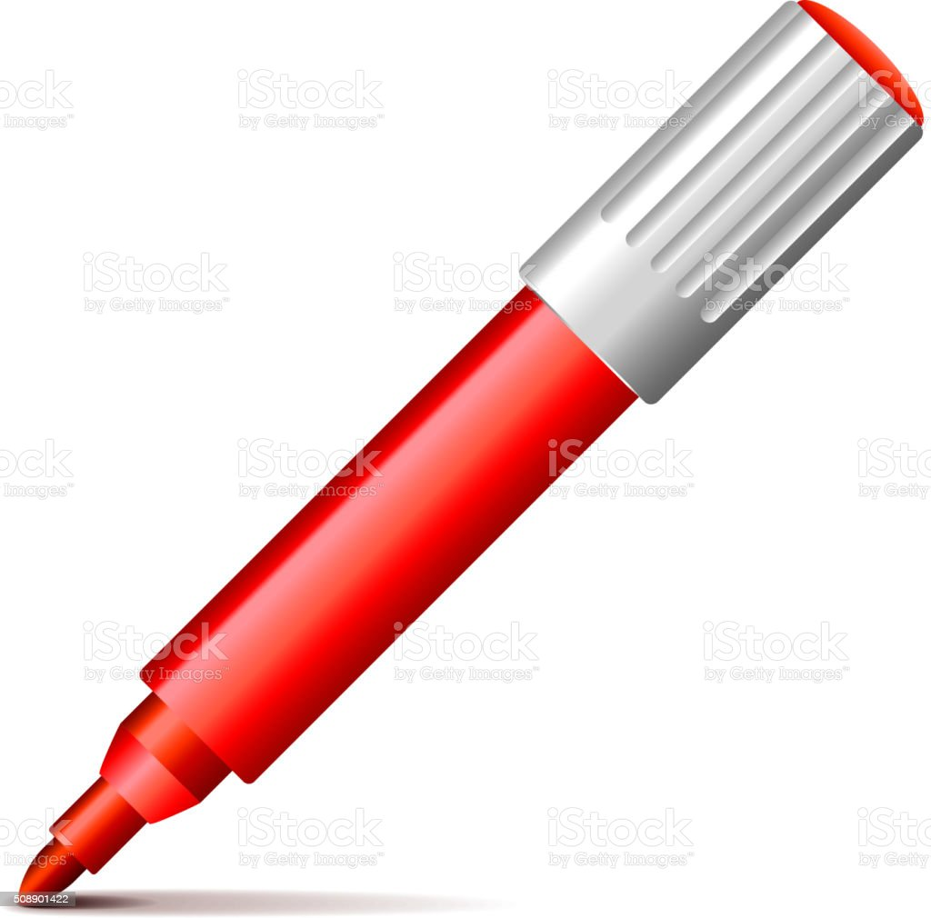 Felt pen isolated on white vector vector art illustration