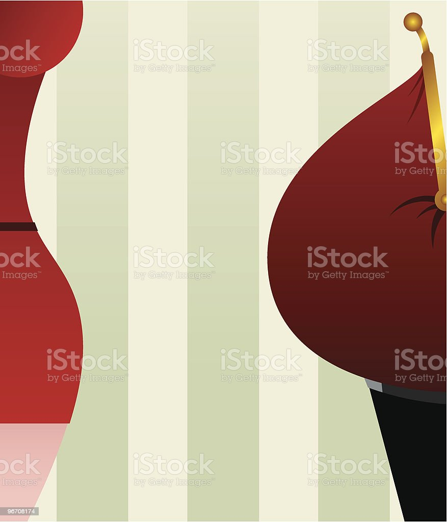 femail and mailpurse royalty-free stock vector art