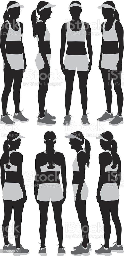 Female athlete royalty-free stock vector art